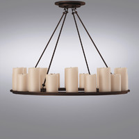 Restoration Hardware - Maritime Pendant (2)Parisian Wood & Zinc 15-Arm Chandelier (2)Pillar Candle Round Medium